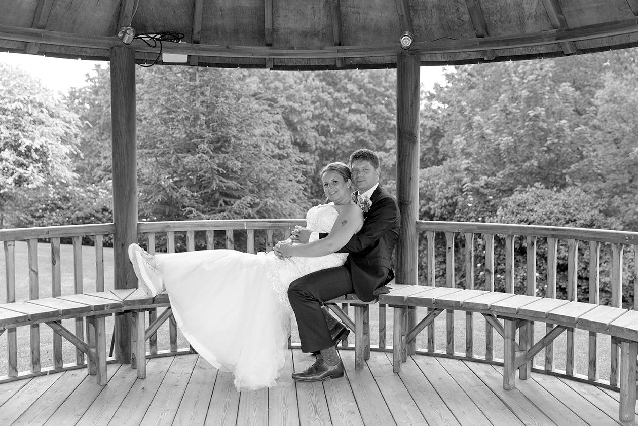 Bride and Groom sat together