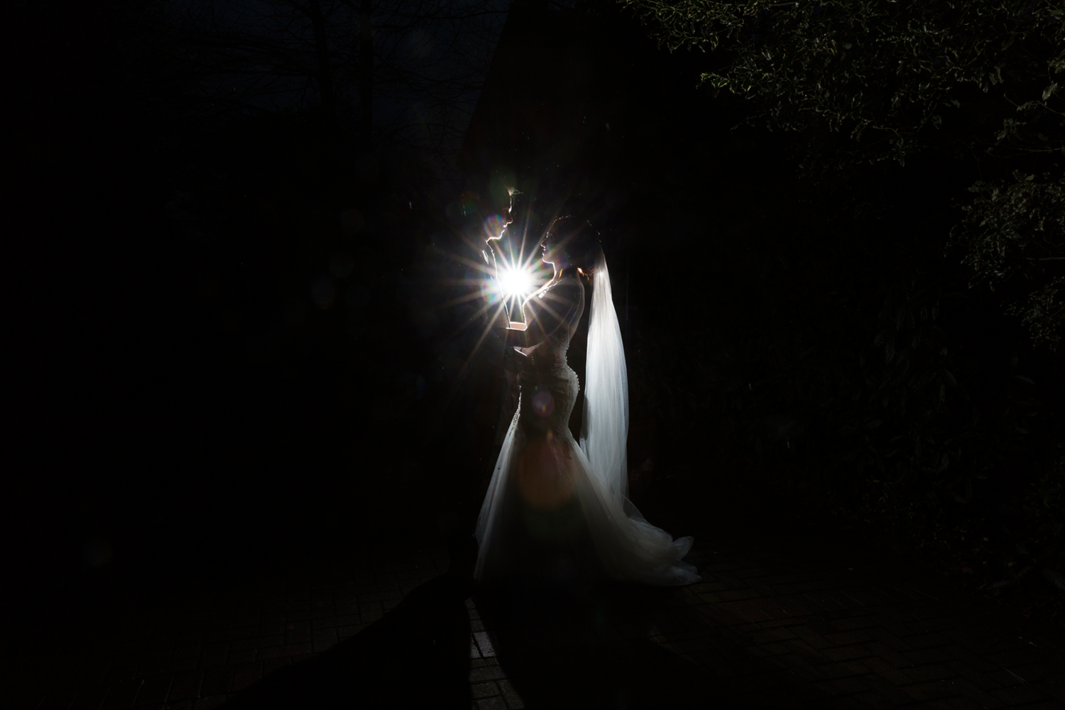Star shot of the Bride and Groom at York Registry Office.