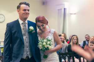 Bride and groom getting married at York Registry Office. Wedding Photography by Charlotte Atkinson Photography