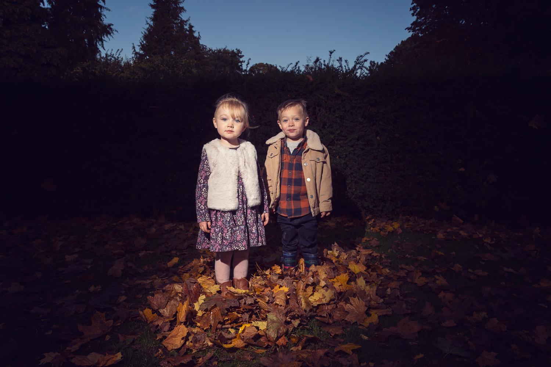 Autumn Leaves Outdoor Family Photoshoot York