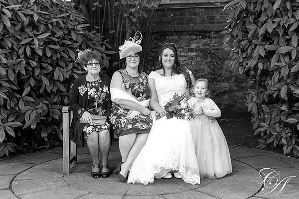 York Register Office Group Wedding Photo in the Garden